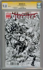 Defenders #1 Retail Sketch Variant CGC 9.8 Signature Series Signed Stan Lee Neal Adams Marvel Comics